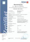 Zertifikat DIN EN ISO 17660-1:2006-12