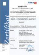 Zertifikat DIN EN-1090:2009/A1:2011